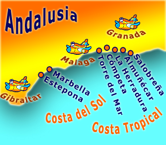 holiday rentals Andalusia Costa del Sol und Costa Tropical